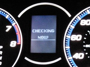 Initiate the instrument cluster self-test