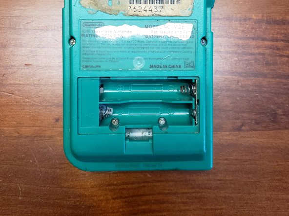 Nintendo Gameboy Pocket Shell-Side Battery Terminal Corrosion Removal