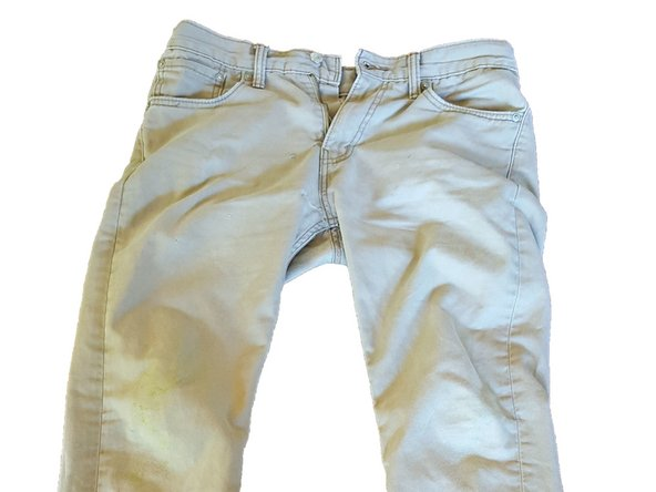 Now put your khaki pants on because they are now wearable again and practically new!