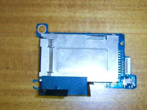 Remove the memory stick reader.