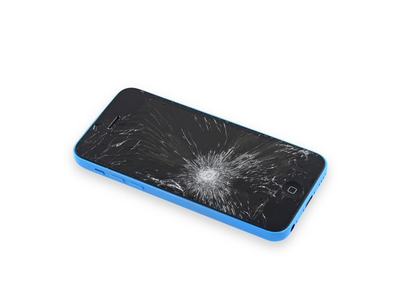 Falls dein Displayglas gesprungen ist, halte die Bruchstelle zusammen und vermeide Verletzungen, indem du das Glas mit Tape versiehst.