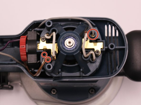 Remove the gray, brown, and clear wires by pulling on the wire terminals.