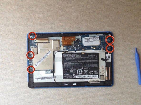 Unscrew 5x screws and rmove the main board.