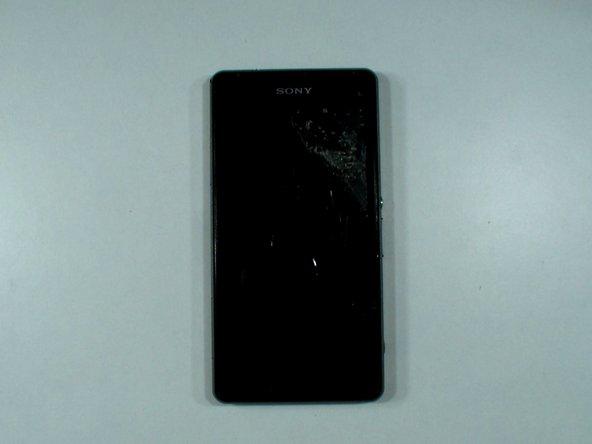 Xperia Z1 Compact with a broken screen.