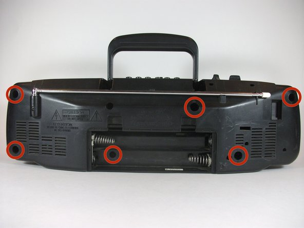 Disassembling Sony CFS-204 Radio Cassette-Corder Outer Casing