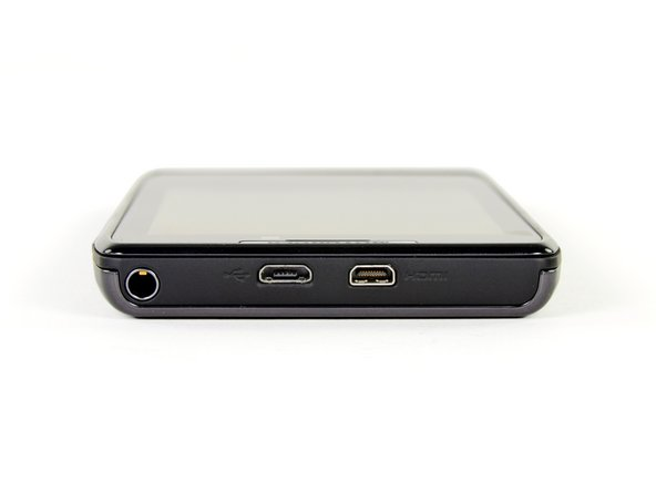 The micro-USB and micro-HDMI ports are located at the top of the phone, next to the 3.5 mm headphone jack.