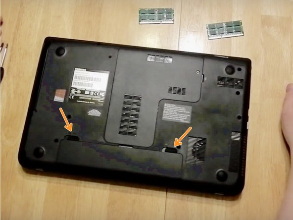 Step 2: Now locate the Taps located on the Right and Left sides of the battery.