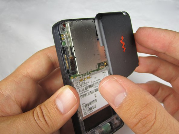 Disassembling Sony Ericsson W580i Back Cover
