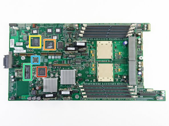 The frontside of the motherboard: