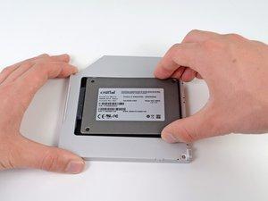 """安装MacBook Pro 13""""Unibody 2012款中期双硬盘"""