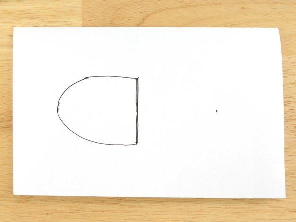 Sketch a curve connecting the endpoints of the length and width.