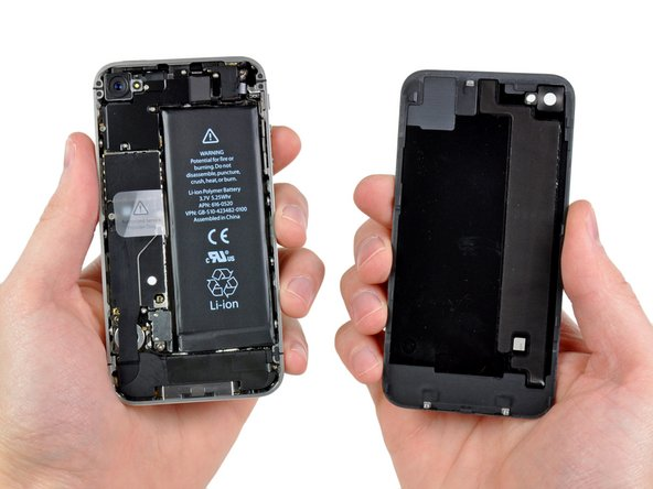 Pinch the rear panel with your fingers, and lift it away from the iPhone. Alternatively, use a Small Suction Cup .