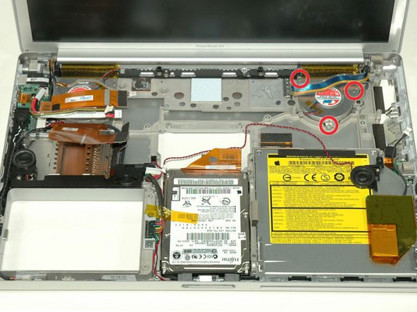 """PowerBook G4 Aluminum 15"""" 1.5-1.67 GHz Right Fan Replacement"""