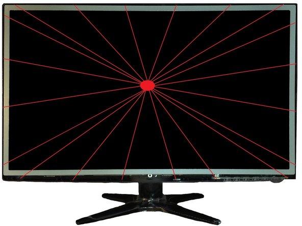 Bildschirmfrontabdeckung entfernen. Dieses ist mit 20 Clips fest verankert.