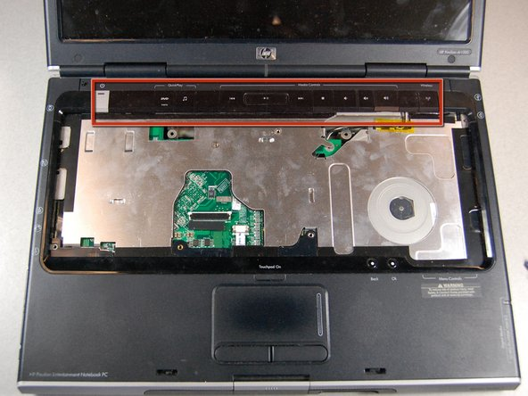 HP Pavilion dv1000 Media Keys Replacement