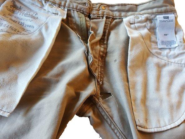 Flip your pants inside out.