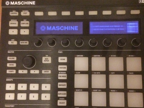 How to fix the display issue on Maschine MKII
