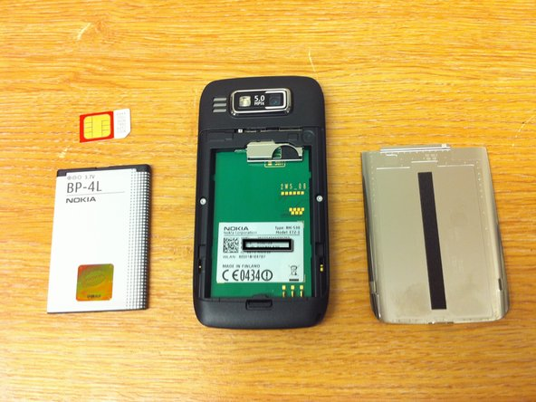 Remove metal backplate followed by the battery and then the SIM by pulling the SIM tray downwards. I do like this tray idea, but then again it's another thing that can go wrong with the device..
