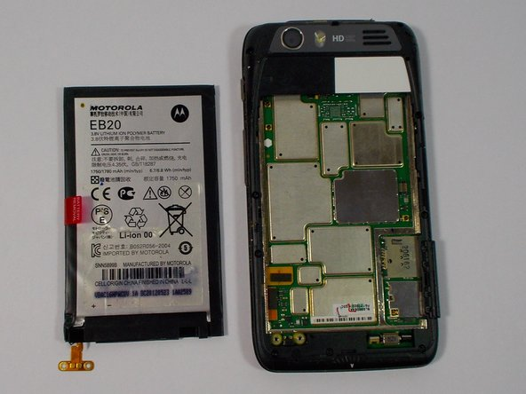 The battery may now be removed.