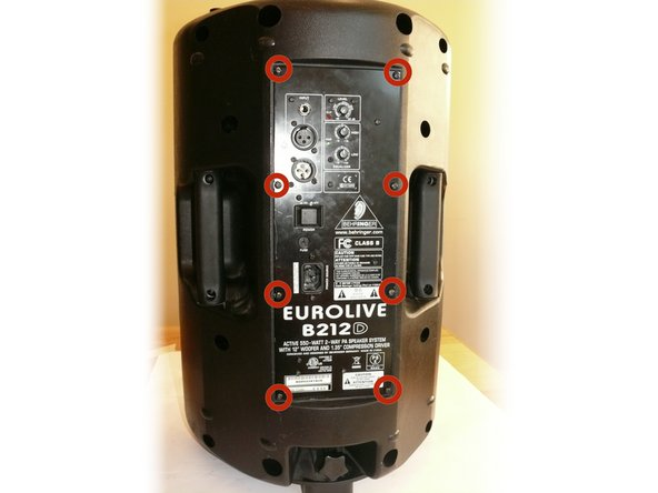Removing the Behringer Eurolive B212D Electronics Box