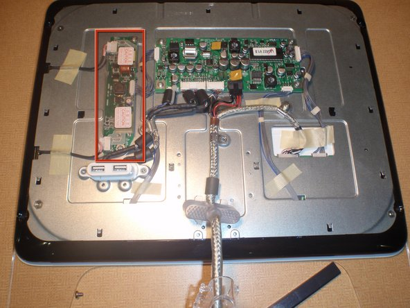 Now, with the circuitry exposed, locate the CCFL inverter board.