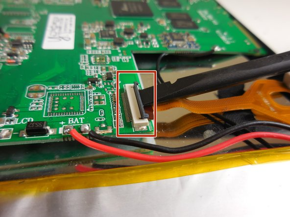 Undo the ZIF connector with a plastic spudger, or fingernail, that is connecting the cameras to the motherboard.