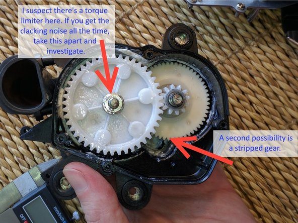 If it sounds horrible when running (even without coffee beans) like this: https://www.youtube.com/watch?v=PcQcbHIP... then it's probably either a damaged torque limiter or a stripped drive gear. FYI: The situation in the video was the aftermath of a rock getting jammed in the burrs.