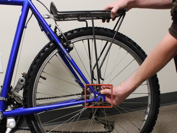 Make sure that the bike is upright and stable.