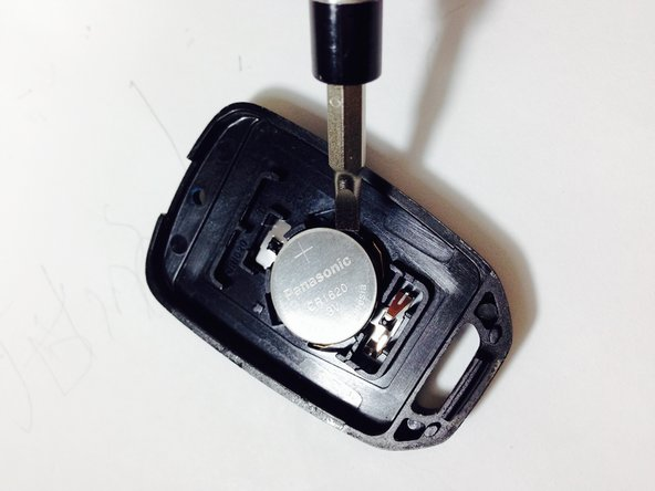 Before you remove the battery, note which side faces up (+ or -). You should install your replacement the same way.