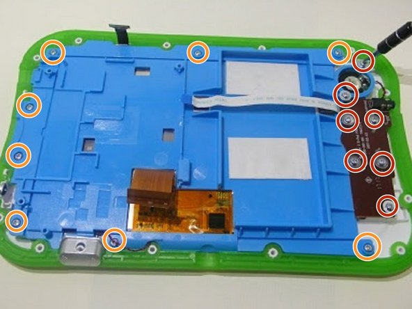 Use a Phillips #1 screwdriver to unscrew the 7  screws  from the speaker with the  bronze plate sound board.