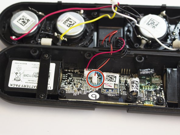 Carefully remove the NFC sensor wire (black, red).