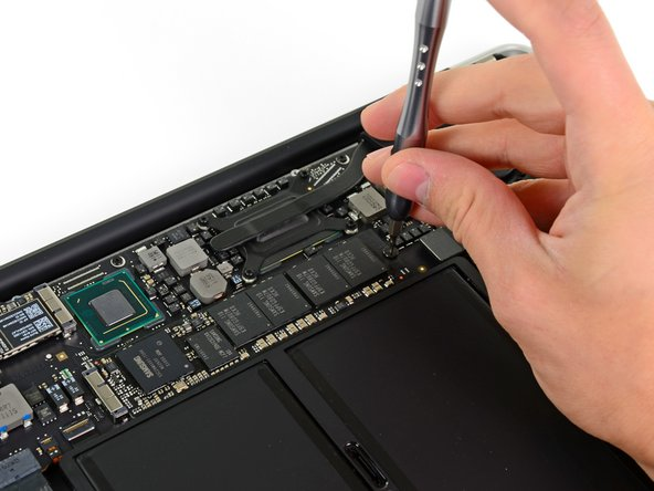 Just like in the mid-2010 MacBook Air, the SSD is not soldered to the logic board. Thankfully this means you can upgrade the SSD for more storage, but you're still out of luck if you need extra RAM.