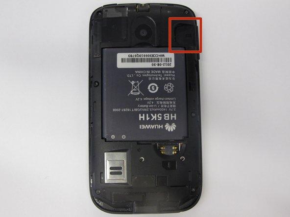Locate the SD card port.