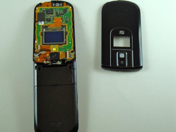 Disassembling KDDI Kyocera A5521K Faceplate