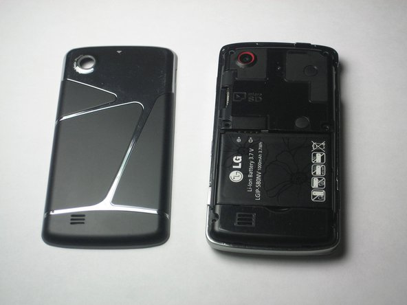 Localisez la batterie. C'est le grand rectangle noir avec le logo LG, un numéro de modèle et des informations sur la batterie.