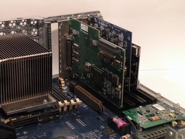 The Power Mac G4 MDD Supports four PCI Cards, allowing for SCSI, sound, wireless networking (only AirPort compatible clones) USB, FireWire, etc.  The PCI slots do not, however support PCI graphics.