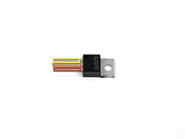 The voltage regulator has 3 pins: