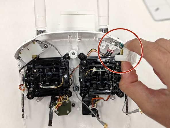 Gently remove the Gimbal Wheel control component from the body.
