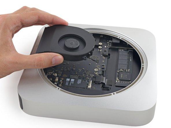Remove the fan from the Mac mini.