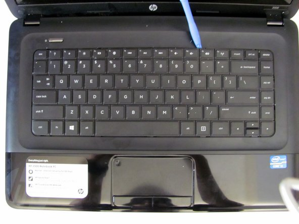HP 2000 - 2D22DX Keyboard Assembly Replacement