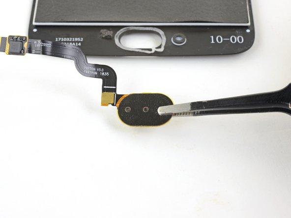 Remove the fingerprint sensor.