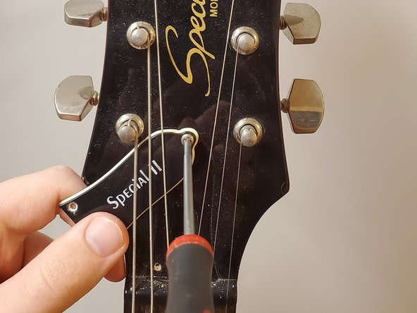 Reinstall the truss rod cap, starting with the top screw.