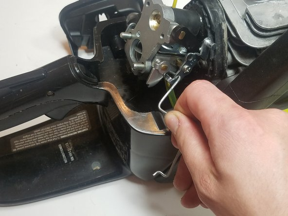 Reconnect the throttle linkage to the carburetor linkage