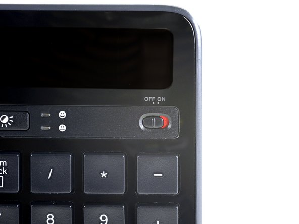 Before you begin, flip the keyboard's power switch into the OFF position.