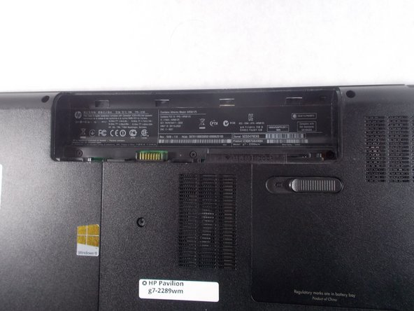 HP Pavilion G7-2289wm Battery Replacement