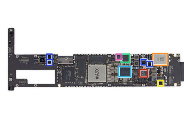 Even more chips on the logic board: