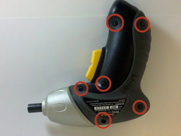 Remove the six 13mm case screws with a #0 phillips screwdriver.