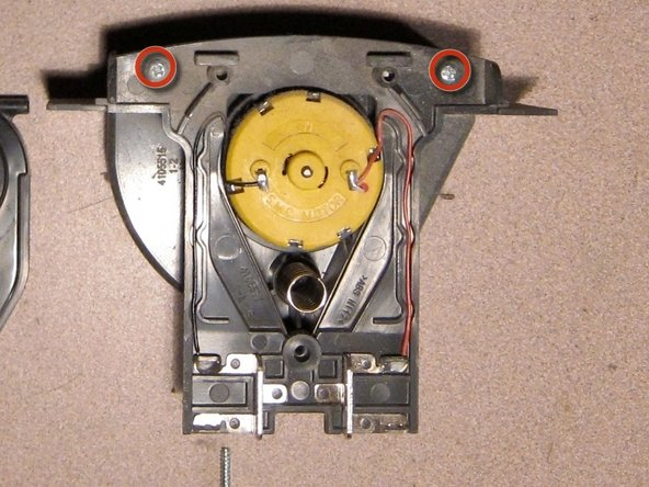 Remove two screws from blower assembly.