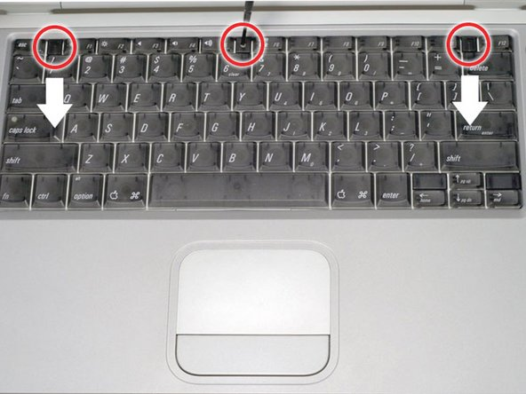 PowerBook G4 Titanium Onyx Keyboard Replacement