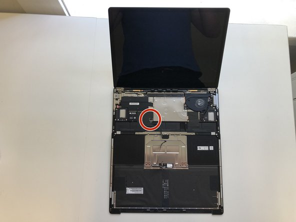 Invert the keyboard on itself and remove the unshielded keyboard assembly connector.